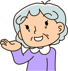 Grandmother looks like guide