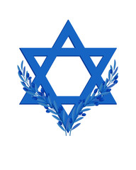 Israel Independence Day, Star of David, olive branches