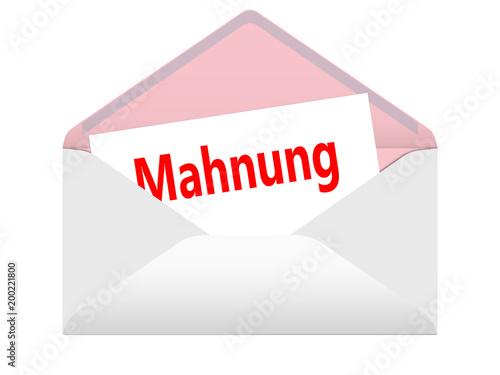 Briefumschlaggeöffnet Mahnung Stockfotos Und Lizenzfreie Bilder