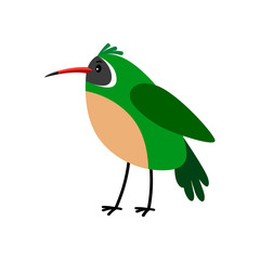 Xantus green cartoon bird icon