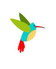 Colibri cartoon bird icon