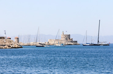 Harbour, Rhodes Town, Greece