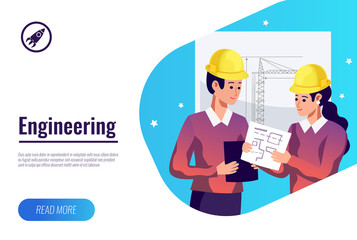 Engineering Flat Background