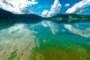 Wall Mural - Austrian Lake Landscape