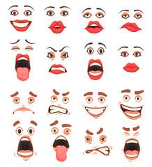 Cartoon Cute Mouth Set