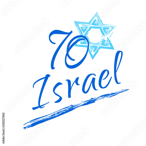 Israel 70 anniversary independence day yom haatzmaut jewish israel 70 anniversary independence day yom haatzmaut jewish holiday festive greeting poster israeli flag m4hsunfo
