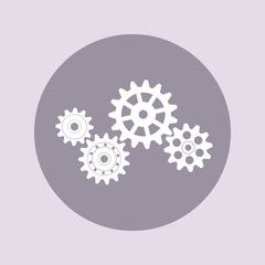Set of gears. Flat vector icon