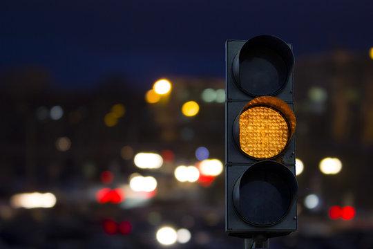 Traffic light yellow signal