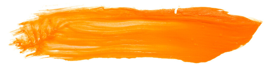 orange paint texture painting art on paper, abstract background, splashing, paint, ink, drop, stein round. with the texture of the brush Fotomurales