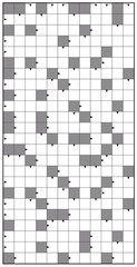 Crossword - blank crossword puzzle pattern, vertical format template, to insert any words for a clear message, brief heading or explicit information in keywords.
