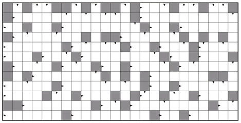 Crossword - blank crossword puzzle pattern, horizontal format template, to insert any words for a clear message, brief heading or explicit information in keywords.