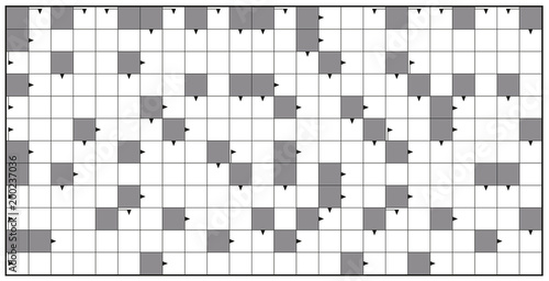 Crossword  Blank Crossword Puzzle Pattern Horizontal Format