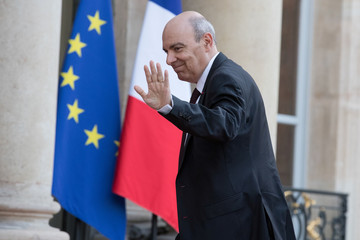 Eric Trappier, Chairman and CEO of Dassault Aviation, arrives at the Elysee Palace in Paris