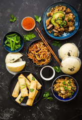 Asian assorted food set
