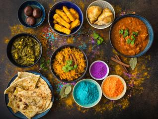 Wall Mural - Indian Holi food
