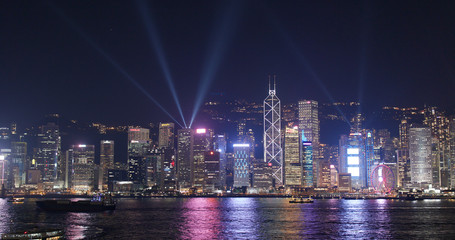 Wall Mural - Hong Kong cityscape at night