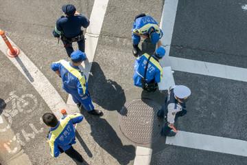 交通事故現場検証