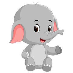 funny baby elephant cartoon
