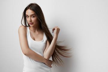 Beautiful Woman With Long Hair.