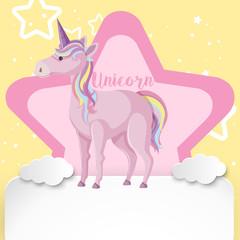 A Cute Colourful Unicorn Background