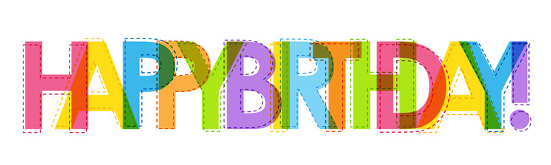 """""""HAPPY BIRTHDAY"""" Vector Letters Card"""