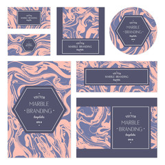Marbled cards.