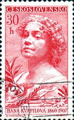 Hanna Kvapilova. 1860 1907. Timbre tchèque.
