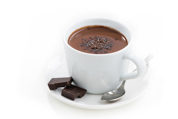 Photo sur Toile Chocolat hot chocolate in a cup