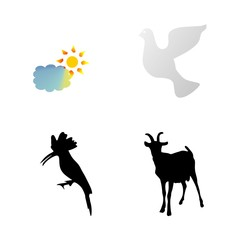 icon Animal with cartoon, horn, fly, humor and nanny goat