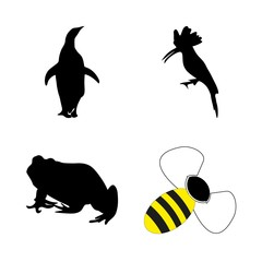 icon Animal with cold, penguin, cartoon, apiary and animals