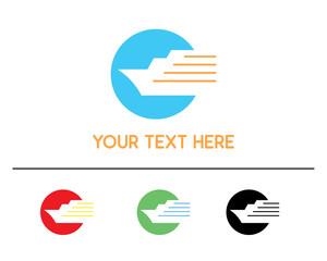 shipping logo design illustration, simple design logo, designed for brand identity