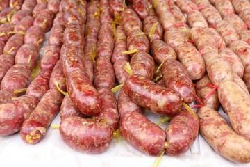 sausages at street food