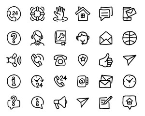 support hand drawn icon design illustration, line style icon, designed for app and web