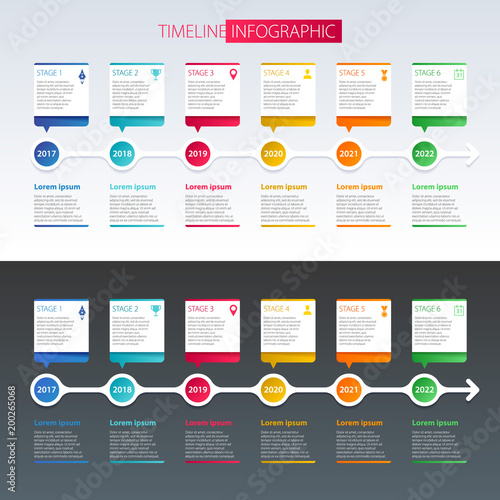 timeline infographic design template stock image and royalty free