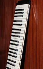 Part of the music keyboard