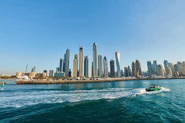 dubai marina view from the water