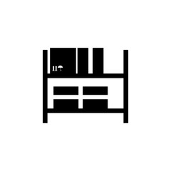 Warehouse shelves icon. Element of logistics icon. Premium quality graphic design icon. Signs and symbols collection icon for websites, web design, mobile app