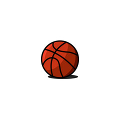 Basketball ball icon, sports gaming equipment object