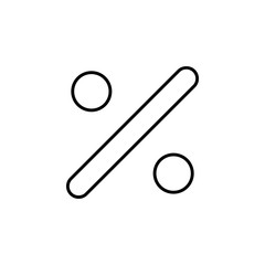 division sign icon. Thin line  icon for website design and development, app development. Premium icon