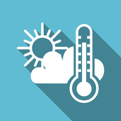 Weather forecast symbol flat design vector blue icon