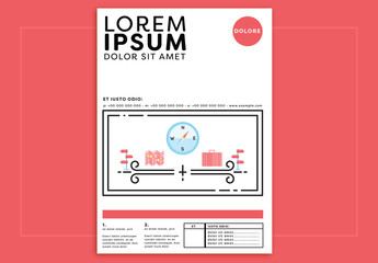Poster Layout with Navigation Illustrations
