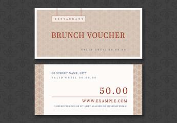 Restaurant Brunch Voucher Layout