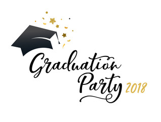 Graduation Class of 2018, party invitations, posters, banner, lettering design