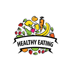 vector logos healthy eating