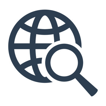 Global search icon on white background.