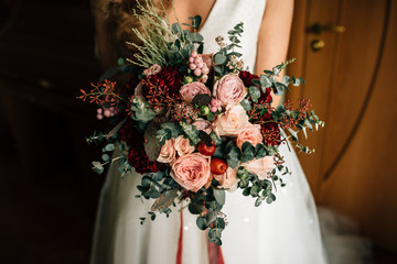 bouquet of the bride in hands