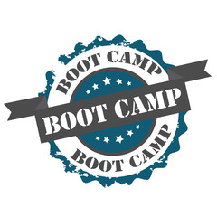 Boot camp text stamp.sign.seal.logo