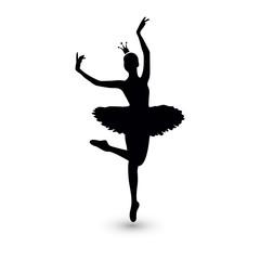 Vector Illustration. Ballerina icon