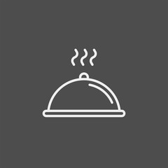 Tray of food flat vector icon