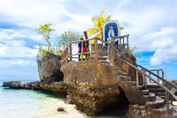 Boracay island Grotto,  Willy's Rock, - Famous and Controversial Landmark , Philippines